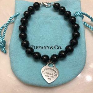 Black onyx Tiffany bracelet